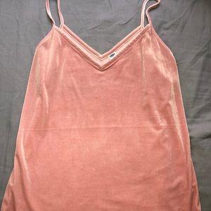 Old Navy light pink velvet tank top blouse